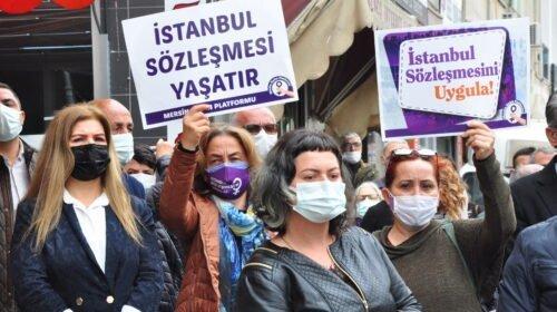"""""""İstanbul Sözleşmesi hepimizindir, vazgeçmiyoruz!"""""""