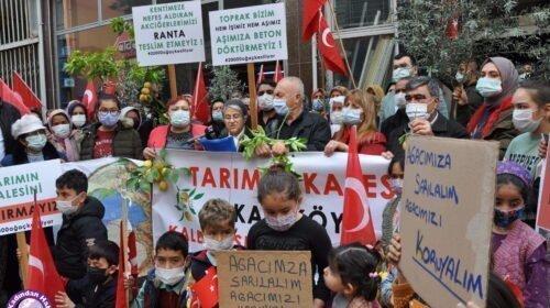 Kaleköy halkı isyanda: Aşımıza beton döktürmeyiz